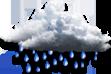 Chuvoso - Encoberto com chuvas contínuas.