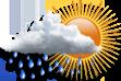 Chuvas Isoladas - Muitas nuvens com curtas aberturas  e chuvas isoladas.