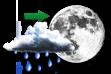 Chuva à Noite - Sol com aumento gradativo de nebulosidade ao longo do dia e chuvas à noite.