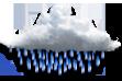 Chuvisco - Muitas nuvens com chuva fraca ocasional.