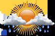 Instável - Períodos curtos de abertura intercalados com períodos de nebulosidade e chuvas a qualquer hora do dia.