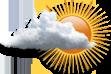 Nublado - Muitas nuvens com curtas aberturas.