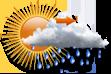Nublado com Possibilidade de Chuva pela Manhã - Muitas nuvens com curtas aberturas e pequena chance de chuva pela manhã.