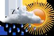 Nublado com Possibilidade de Chuva - Muitas nuvens com curtas aberturas e pequena chance de chuva a qualquer hora do dia.