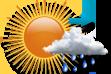 Possibilidade de Chuva pela Manhã - Variação de nuvens com chance pequena de chuva pela manhã.