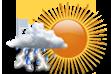 Possibilidade de Pancadas de Chuva - Variação de nuvens com chance pequena de pancadas de chuva localizadas que poderão ser fortes e vir acompanhadas de trovoadas a qualquer hora do dia.