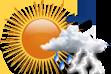 Possibilidade de Pancadas de Chuva pela Manhã - Variação de nuvens com chance pequena de pancadas de chuva localizadas que poderão ser fortes e vir acompanhadas de trovoadas de manhã.