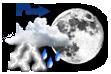 Possibilidade de Pancadas de Chuva à Noite - Variação de nuvens durante o dia com chance pequena de pancadas de chuva localizadas que poderão ser fortes e vir acompanhadas de trovoadas à noite.