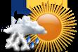 Possibilidade de Pancadas de Chuva à Tarde - Variação de nuvens pela manhã com chance pequena de pancadas de chuva localizadas que poderão ser fortes e vir acompanhadas de trovoadas a partir da tarde.