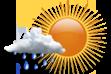 Possibilidade de Chuva - Nebulosidade variável com pequena chance de chuva.