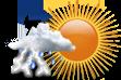 Pancadas de Chuva a partir da Tarde - Variação de nuvens pela manhã com pancadas de chuva localizadas que poderão ser fortes e vir acompanhadas de trovoadas a partir da tarde.