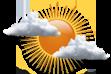 Ícone de condição de tempo: Variação de Nebulosidade